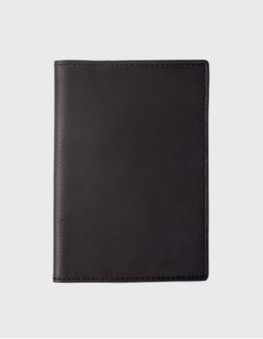 Обложка на паспорт черная