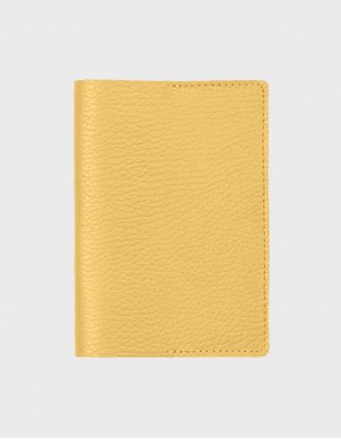 Обложка на паспорт желтая