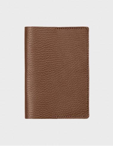Обложка на паспорт коричневая