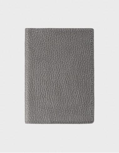 Обложка на паспорт серая