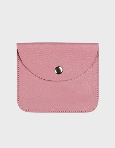 Кошелёк на кнопке розовый
