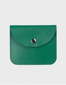 Кошелёк на кнопке зеленый